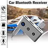 Misszhang-US 3.5mm AUX Bluetooth Receiver Speaker Car Wireless Stereo Audio Music Adapter TF Card not Included