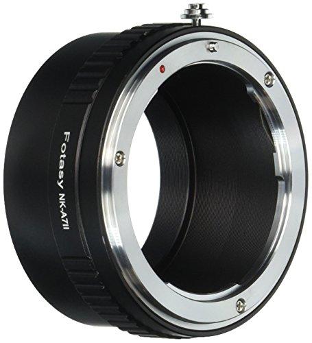 Fotasy Nikon Lens to Sony A7, A7 II, A7 III, A7R, A7R II, A7R III, A7S, A7S II, A7S III Full Frame Mirrorless Camera Adapter