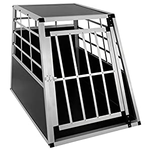 EUGAD Car Dog Cage Puppy Travel Carrier Kennel Pet Crate Transport Box Aluminum 8