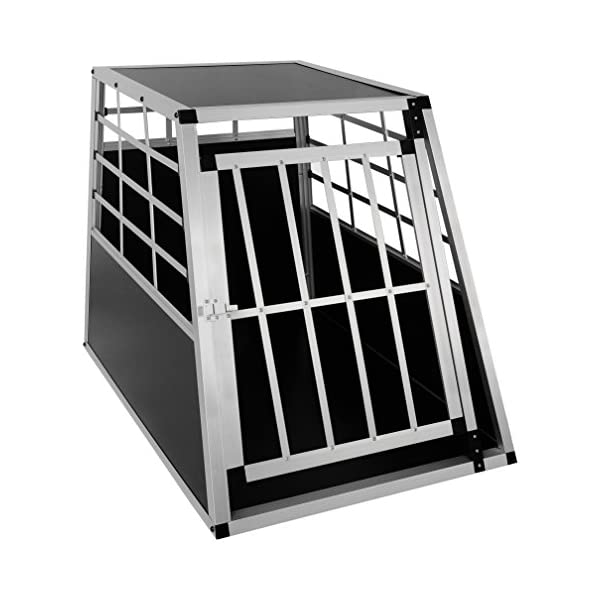 EUGAD Car Dog Cage Puppy Travel Carrier Kennel Pet Crate Transport Box Aluminum 1