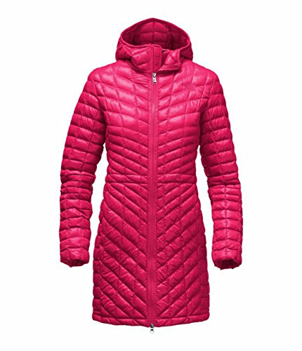 (The North Face Thermoball Hooded Insulated Parka Women's Jacket Cerise Pink (S))