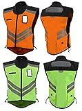 Vega Helmet High Visability Orange Safety Vest (Orange, Small to Large)