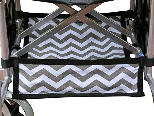 Storage Underseat Basket - Foldable Wheelchair Under Seat Storage Bag, Wheelchair Underneath Carrier, Wheelchair Under Seat Basket, Wheelchair Bag, Wheelchair Accessories, Wheelchair Underneath Bag, Chevron Cotton Canvas