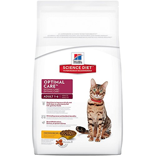 Hill's Science Diet Adult Optimal Care Chicken Recipe Dry Cat Food 51q1EfkpAvL