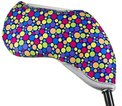 Oliveland Colorful Set of 10 Pcs Golf Club Head Covers (dots)