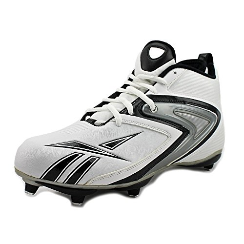 Reebok Men's Nfl Ferocious D3 Football Cleat,White/Black,8.5 M
