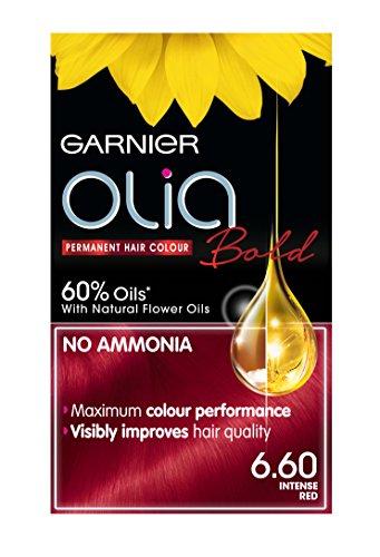 Garnier Olia Permanent Hair Dye, 6.60 Intense Red