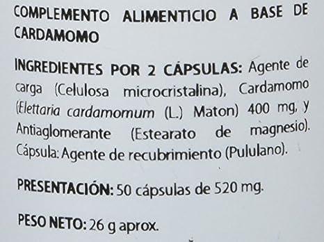 Equisalud Ayurveda Cardamomo - 50 Cápsulas: Amazon.es: Alimentación y bebidas