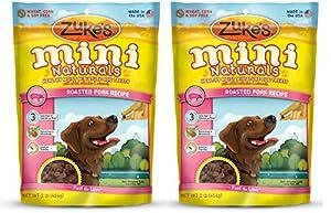 Zukes Mini Naturals Vhpgj Healthy Moist Training Treats, Pork, 1 Pound (2 Pack)