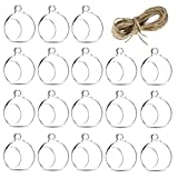 Sziqiqi 18Pcs 80MM Hanging Vase Hanging Candle Holder Tealight Holder Wedding Holder Wedding Dinning Table Decoration (18Pcs/Set)