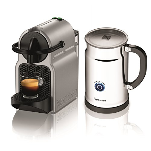 Nespresso A+D40-US-SI-NE Inissia C40 Silver Bundle, Silver (Discontinued Model)