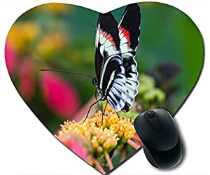 Beautiful Butterfly On Flower Macro Mouse Pad Desktop Mousepad Laptop Mousepads Comfortable Office Of Mouse Pad Mat Cute Gaming Mouse Pad