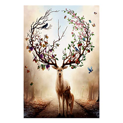 Bestdon 1000 Piece Puzzles for Adults and Teen DIY Collectibles Home Decoration Warm Elk Jigsaw Puzzle