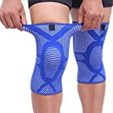 AOLIKES 1 Pair Knee Pads Support Compression Sleeve,Knee Braces Compression Sleeve Sports Protect patella, Arthritis, Joint Pain