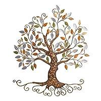 YJ HOME Tree Art Tree of Life, metallo dorato, Albero Home Decor