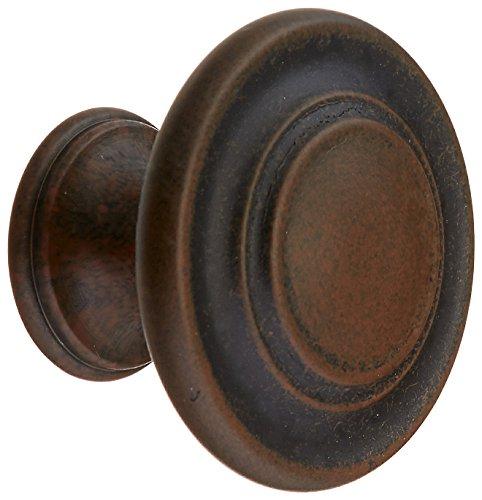 Amerock BP1586-ART Inspirations 3 Ring Antique Rust Finish Cabinet Hardware Knob - 1-3/8