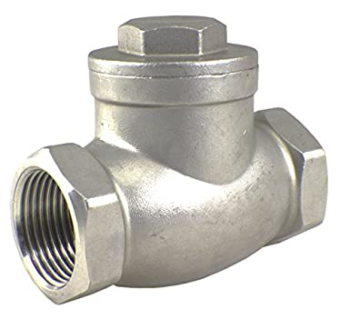 Duda Energy SCV-WOG200-F050 Swing Check Valve 1//2 NPT in-line Low Cracking Pressure.5 304 Stainless Steel