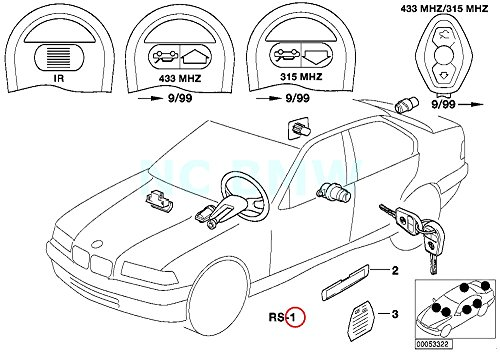 BMW Genuine Set Unif.Lock.Syst.W/Ews Ctrl Unit(Code) ()