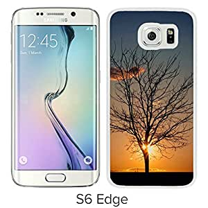 YTSDark Tree Cloud Sunset For Samsung Galaxy S6 Edge White Case Cover
