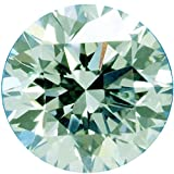 RINGJEWEL 1.55 ct 7.47 MM VVS1 Round Cut Loose Moissanite Use 4 Pendant/Ring Off White Ice Blue Color Stone