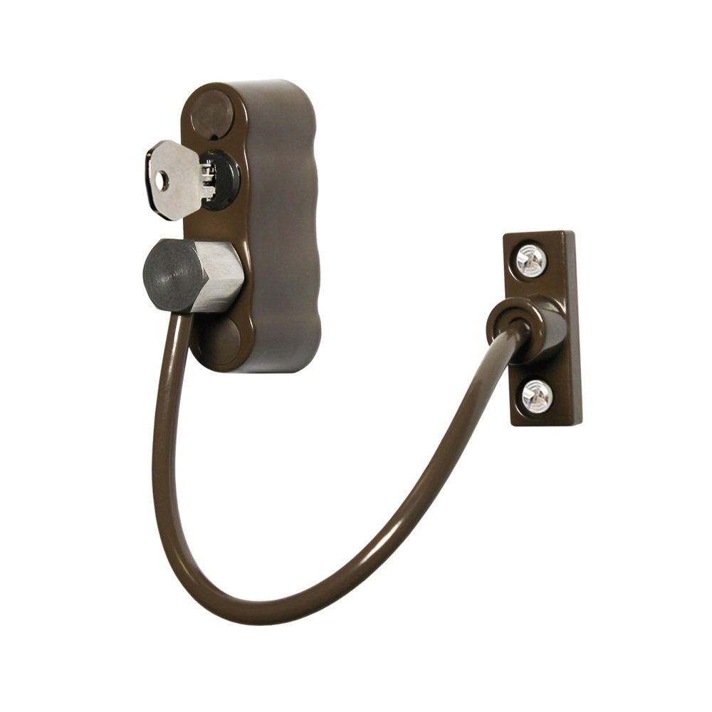 Cardea Premium Child Safety Cable Window Opening Restrictor Lock uPVC Suitable - Brown by Cardea (Image #3)