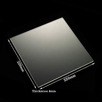 Amazon.com: Placa cuadrada de vidrio de borosilicato para ...