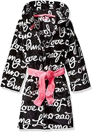 Petit Lem Big Girls' Love Print Robe, Dog, 4