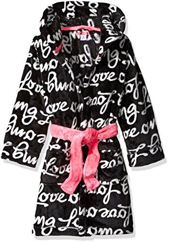 Petit Lem Big Girls' Love Print Robe, Dog, 4]()