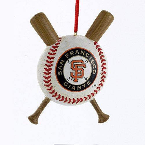 San Francisco Giants Baseball and Crossed Bats MLB Christmas Ornament