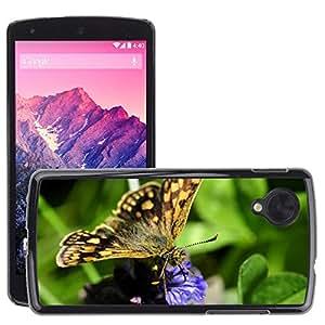 GoGoMobile Etui Housse Coque de Protection Cover Rigide pour // M00125121 Mariposa Mariposas Insectos Flor // LG Nexus 5