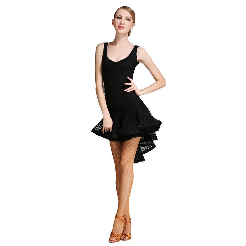 noir L XHTW&B Adulte Femmes Latin Danse Jupe Les Robes Flexible étape ExaHommes De Danse Les Costumes élégant Fête Concurrence Robe