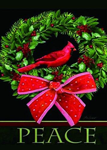Christmas Garden Flag, Christmas Garland Decorative Garden Flag Winter Outdoor Flag Xmas Gift 12
