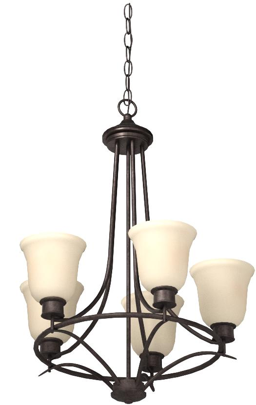 Designers Fountain 96985-ORB Montego 5 Light Chandelier