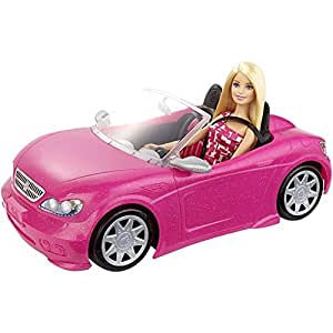 Amazon.com: Mattel Barbie Doll and Glam Convertible Car: Toys & Games