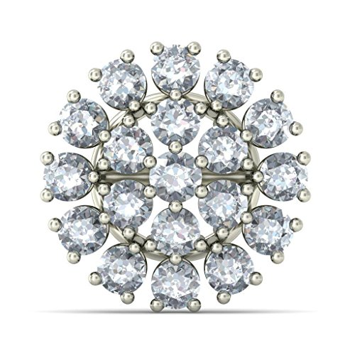 Or blanc 14 K 1.238 CT TW Round-cut-diamond (IJ | SI) Boucles d'oreille à tige