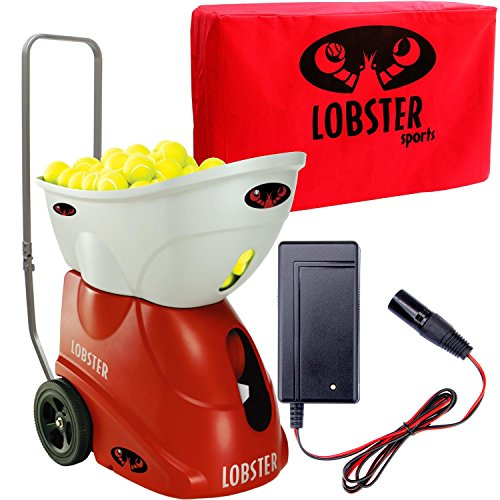 ster Elite Two Battery Powered Tennis Ball Machine, with FREE Fast Charger and Storgage Cover (Lobster Elite Battery Tennis Ball)