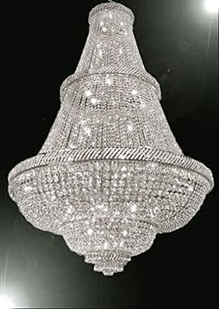FRENCH EMPIRE CRYSTAL CHANDELIER LIGHTING 6FT TALL!   PERFECT FOR AN  ENTRYWAY OR FOYER!
