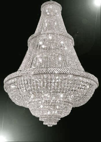 FRENCH EMPIRE CRYSTAL CHANDELIER LIGHTING 6FT TALL! - PERFECT FOR AN ENTRYWAY OR FOYER! - French Crystal Chandelier