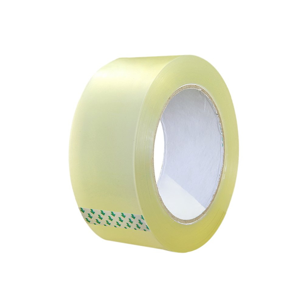 Zhi Jin 1 Roll Clear Adhesive Packing Tape Thick Max Sealing Tapes Heavy Duty for Shipping Box Carton 45mm*150M/0.18'*164yd