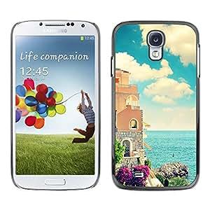 Be Good Phone Accessory // Dura Cáscara cubierta Protectora Caso Carcasa Funda de Protección para Samsung Galaxy S4 I9500 // Sea Florence France Italy Seaside Calm Architecture
