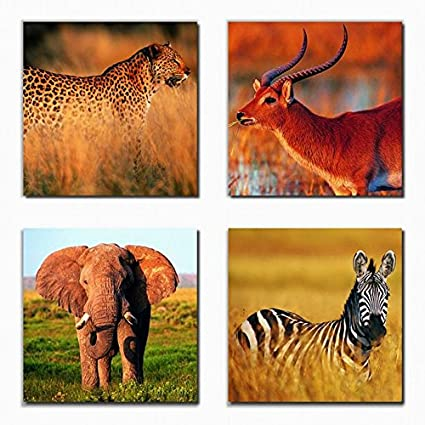 bc29fab6ad Wall Art Canvas Prints - Wild Animals Prints on Canvas - Framed and Ready  to Hang