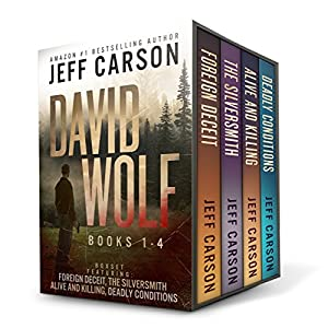 The David Wolf Mystery Thriller Series: Books 1-4 Audiobook