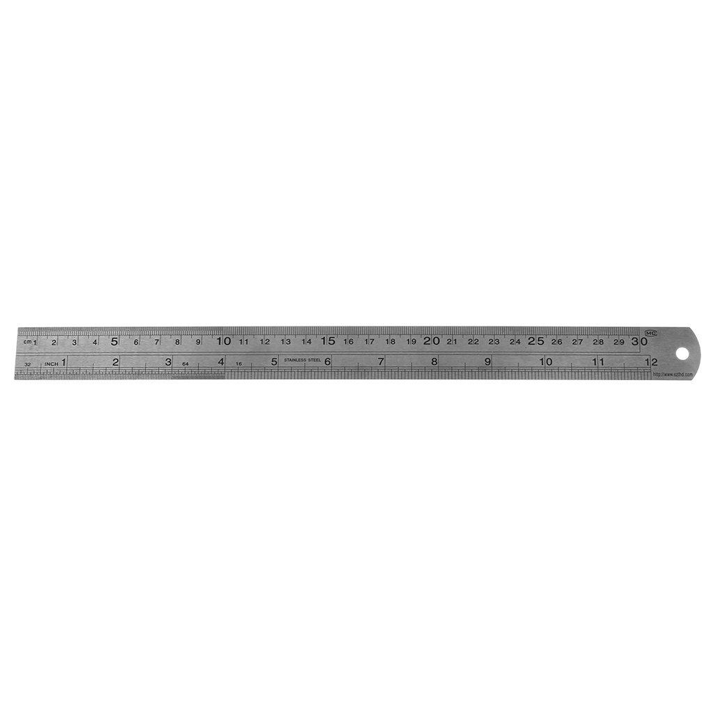 Lamdoo doppio lato acciaio INOX metrico righello misurazione strumenti di precisione nuovo, Acciaio inossidabile, 20 cm