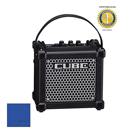 - Roland Micro Cube GX Guitar Amplifier (Black) with Microfiber and 1 Year Everything Music Extended Warranty