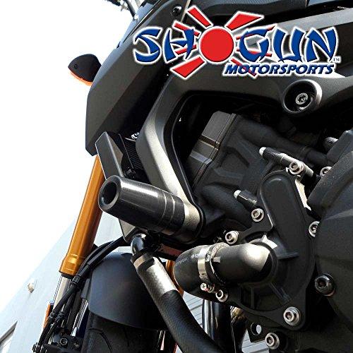 2014-2016 Yamaha FZ09, 2015-2017 Yamaha FJ09, 2016-2018 Yamaha XSR900 Black No Cut Frame Sliders - 750-6399 - MADE IN THE USA by Shogun Motorsports (Image #2)