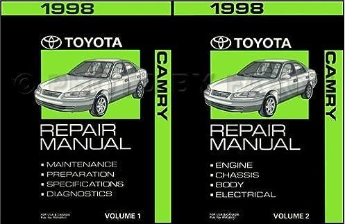 1998 toyota camry repair manual 2 volumes o e m toyota repair rh amazon com 2014 Toyota Camry 1998 toyota camry v6 repair manual