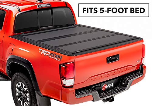 BAKFlip MX4  Hard Folding Truck Bed Tonneau Cover | 448426 | fits 2016-19 Toyota Tacoma 5' bed ()