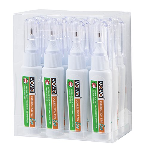 YOYA 832 Correction Pen 4 ml. Portable Fine Point Quick Drying, Pack 12 pcs.