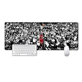 GMLMXS Professional Large Game Mouse pad,Extended Size Desk Mat Non-Slip Rubber Mouse Pad (27.6x11.8X 0.08inch),Comfortable for Mac PC Laptop (Jordan, The Last Kill.)
