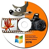 NEW 2016 Professional Photo Image Editing Software-GIMP-with Photoshop Guide on CD